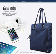Custom Waterproof Canvas Tote Bag With Zipper Closure For Shopping