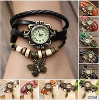 2014 wholesale fashion quartz vintage watch for ladies with real cow strap alibaba escrow