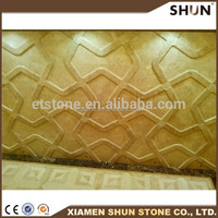 3d embossed art interior wall decoration cartoon wall tile/marble 3d pattern marble tile new design / wall CNC carving