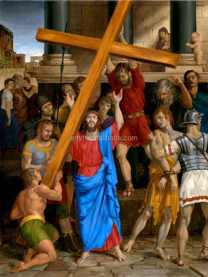 14 Stations of the Cross print on canvas