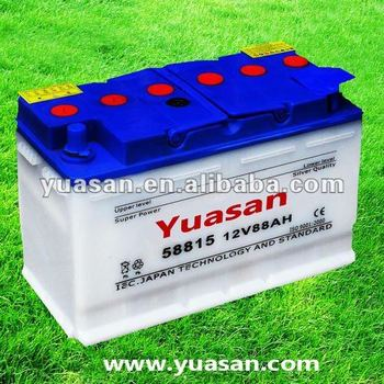 DIN 12V88AH 58815 Dry Charged Auto Lead Acid Car Battery