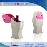 Exquisite Fish shape leather wine gift box
