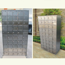 Residential combination indoor stainless steel mailbox
