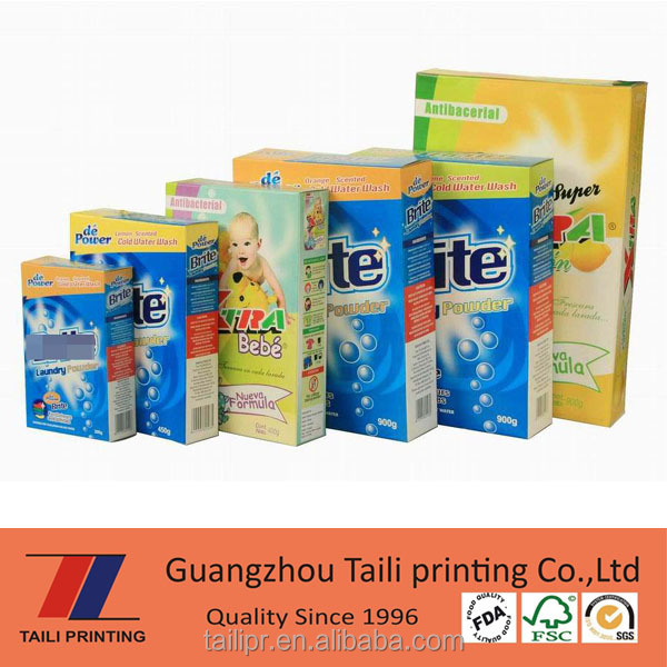 High quality Automatic Washing powder packing box / paper powder box *PB20151123-2