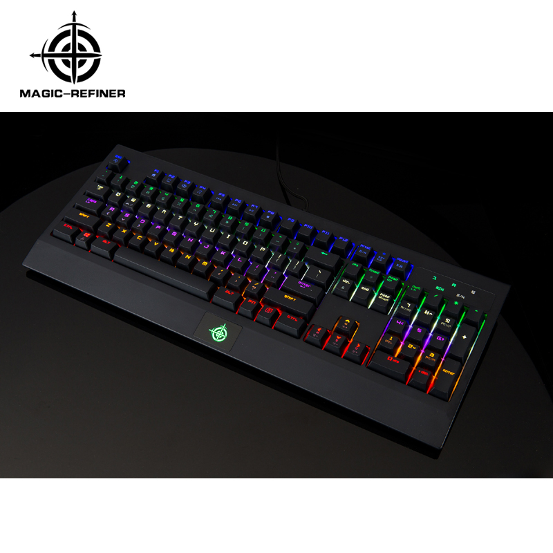 Latest design mechanical keyboard arabic with led backlight