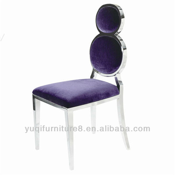 Fashion Stainless steel upholstered high back hotel chair