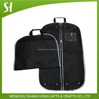 black non woven material suit bag/foldable garment bag