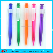 promotional push pen with logo plastic ball pen for AD