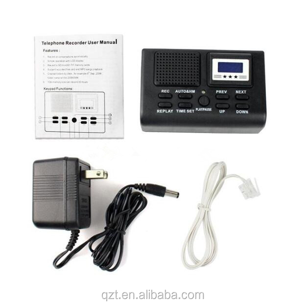 The top high sensitive spy telephone voice recorder