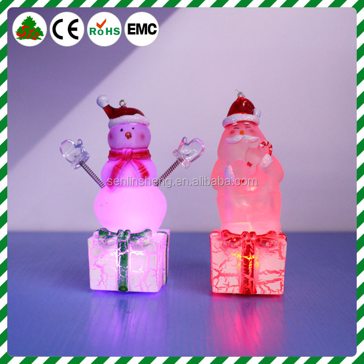Christmas manufacturer Acrylic Led lighting santa claus