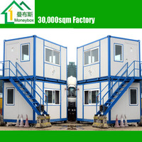 2 storey prefab Flatpack Container Houses/ Office/ Workshop/ Dormitory with ladders