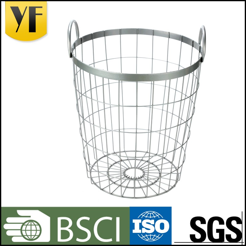 Storage type and metal wire golf ball basket with handle