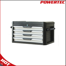 POWERTEC Metal Steel Tool Case, Metal Tool Box With 4 Drawer