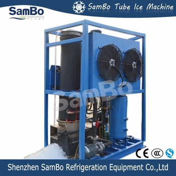 With CE Certificates SamBo Cylinder Edible Ice Tube Machine 1 Tone