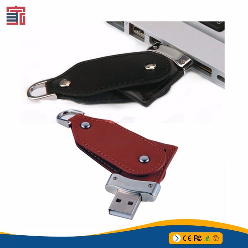 Best quality custom gifts leather usb stick leather usb flash drive