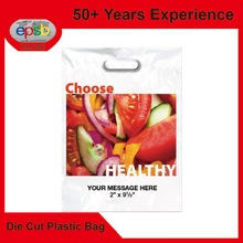 Gift Promotional Shopper Die Cut Patch Plastic Bag