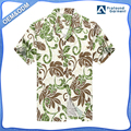 Hawaii Hangover Made in Hawaii Hawaiian Shirt Aloha Shirt in Totem Floral in Green and Brown