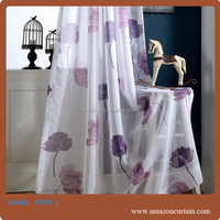 2016 wholesale fashion curtain design prined wide width linen fabric
