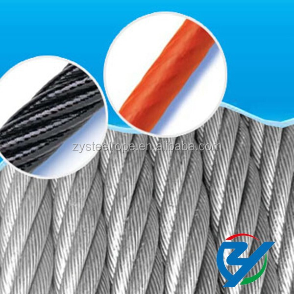 colored steel cable,steel wire rope