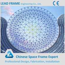 Light weight space frame steel dome construction building