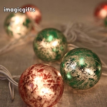 Green And Red Outdoor Christmas Plastic Light Ball