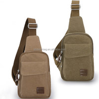 China factory canvas leisure sling bag for man