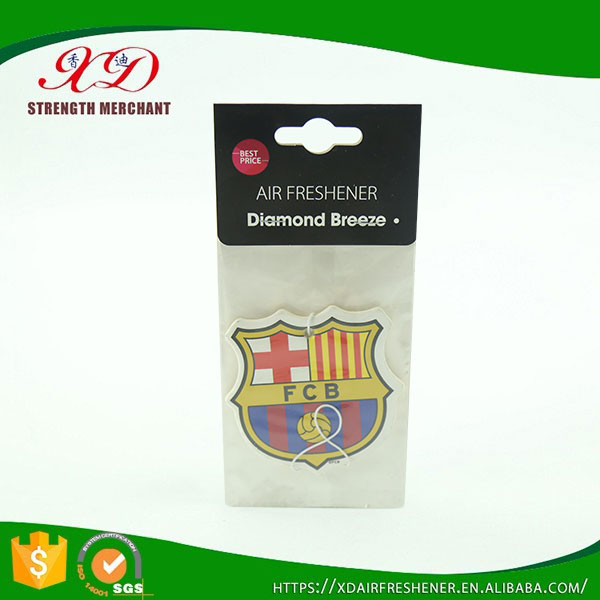 Good Quality Custom Scented Paper Fresh Car Air Freshener with Double Printing