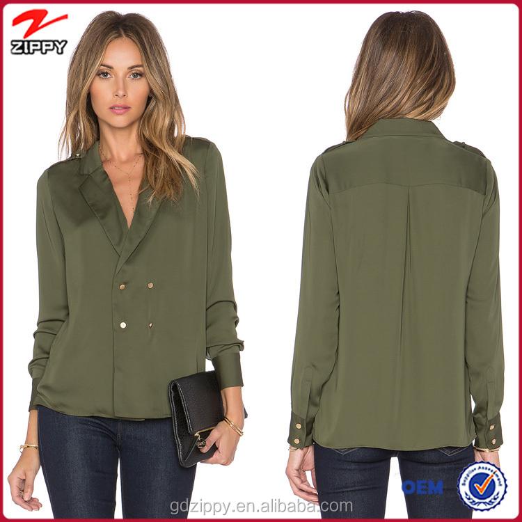 New Model Simple Women Formal Blouse Designs,Office Uniform ...