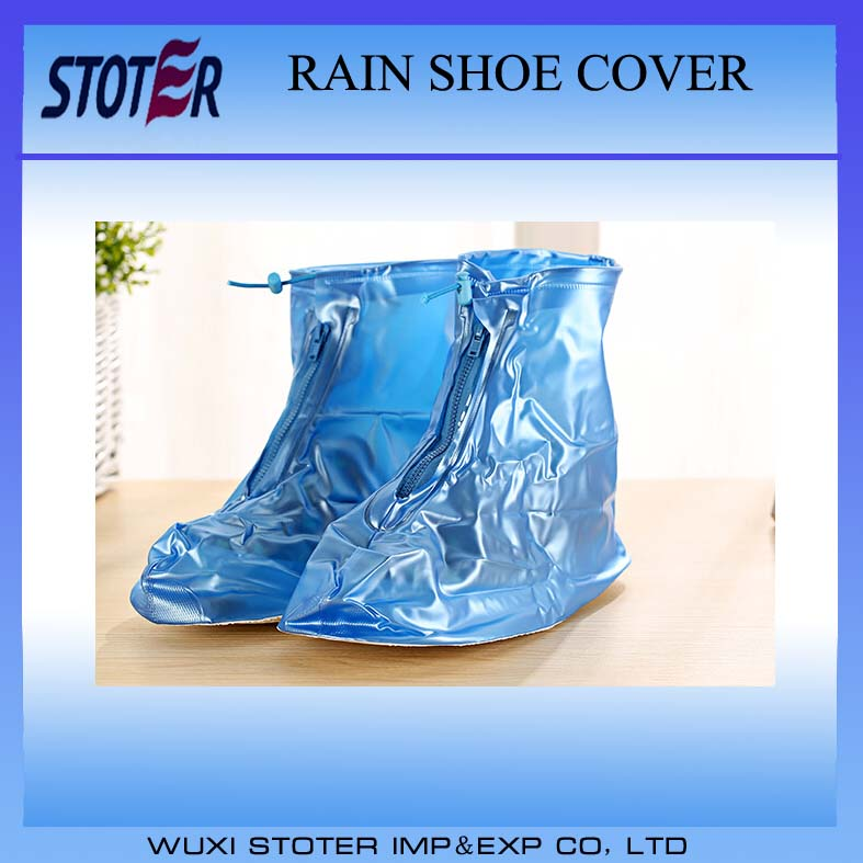 Disposable PVC waterproof and nonslip rain shoe cover