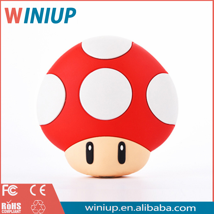 Wholesale super mario bank Super Mushroom power bank for All Phone Mushrooms Anime USB Mobile Power Bank Backup External <strong>Battery</strong>
