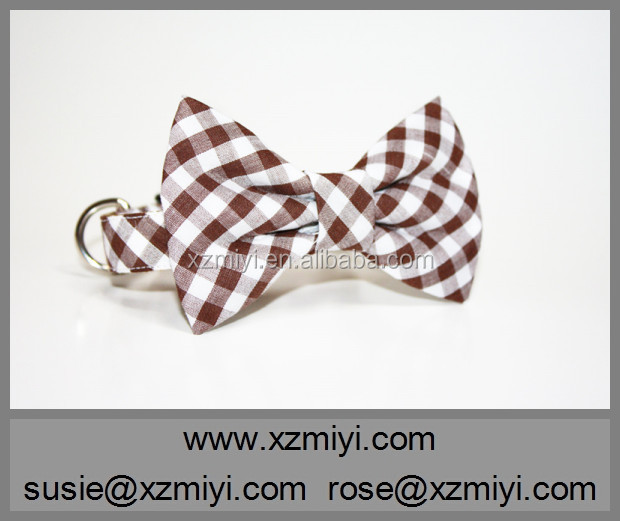 Wholesale custom logo plaid dog collar and lead set