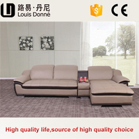 Furniture cheap price l-shape sofa high quality l-shape Top leather sofa with chaise l-shape/corner sofa