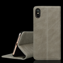 Flip Genuine Leather Wallet Phone Case For iPhone X