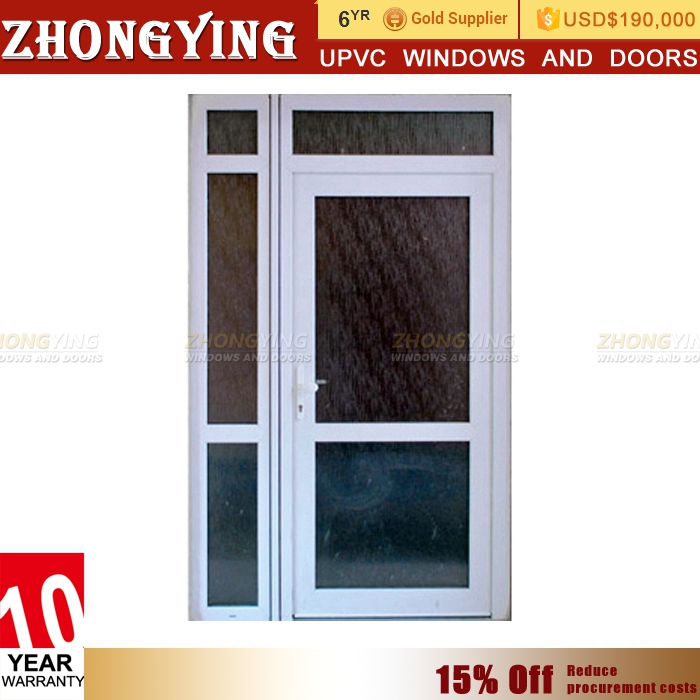 Export American tempered glass shop and house design front door