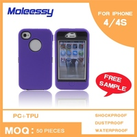 Pc + tpu hybrid case case for iphone 4 glow combo