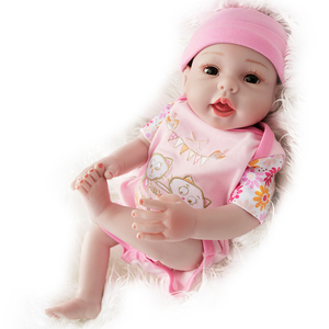 UCanaan 20'' Silicone Baby Doll Realistic Reborn Dolls Handmade Children Lifelike Toys For Girls