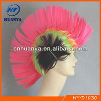 pink cockcomb feather christmas headband strange men halloween party headband hot selling!
