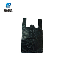 black Factory price HDPE Plastic Household Garbage packing Bag/trash bags/rubbish bags on roll with handle
