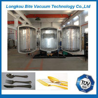 disposable plastic spoon/fork /Cutting tools PVD hard /Ceramic Tiles vacuum coating equipment/vacuum metallizing machine