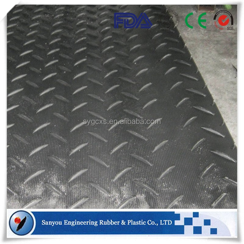 Anti-slip Wetland Access Mats Plastic HDPE Road Cover for Temporary Road Protect HDPE Engineering Mats