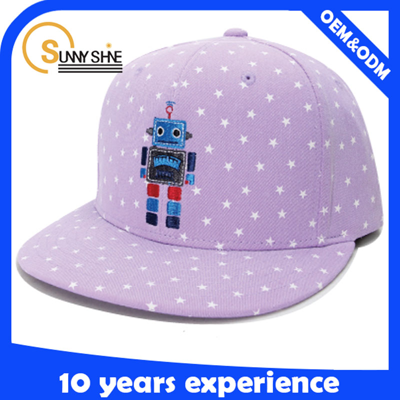 fashion short brim snapback caps and hats kids plain snapback for girl