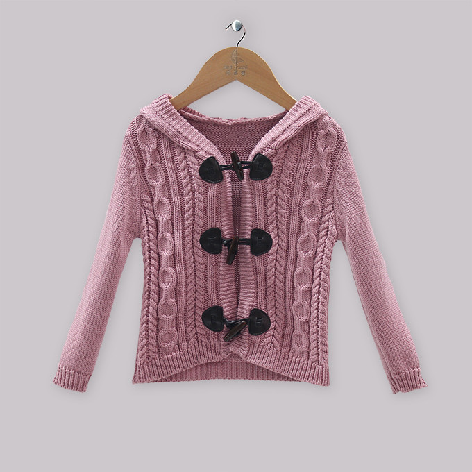 Knitting Patterns For Winter Sweaters : 2015 Winter Purple Girls Knit Sweaters Casual Girl ...