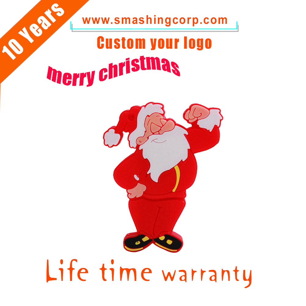 New Products Happy New Years and Merry Christmas Custom 8GB Christmas usb,Santa Claus USB 2.0 For Christmas Gift