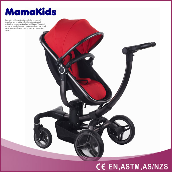 Big space Luxury Baby Stroller 3 in 1 with High View System Prams Made in China