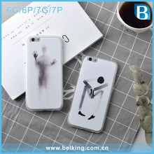 Transparent Tpu Chinese Painting Cell Phone Case for iPhone Apple 6 6s 7 7plus mobile phone accessories