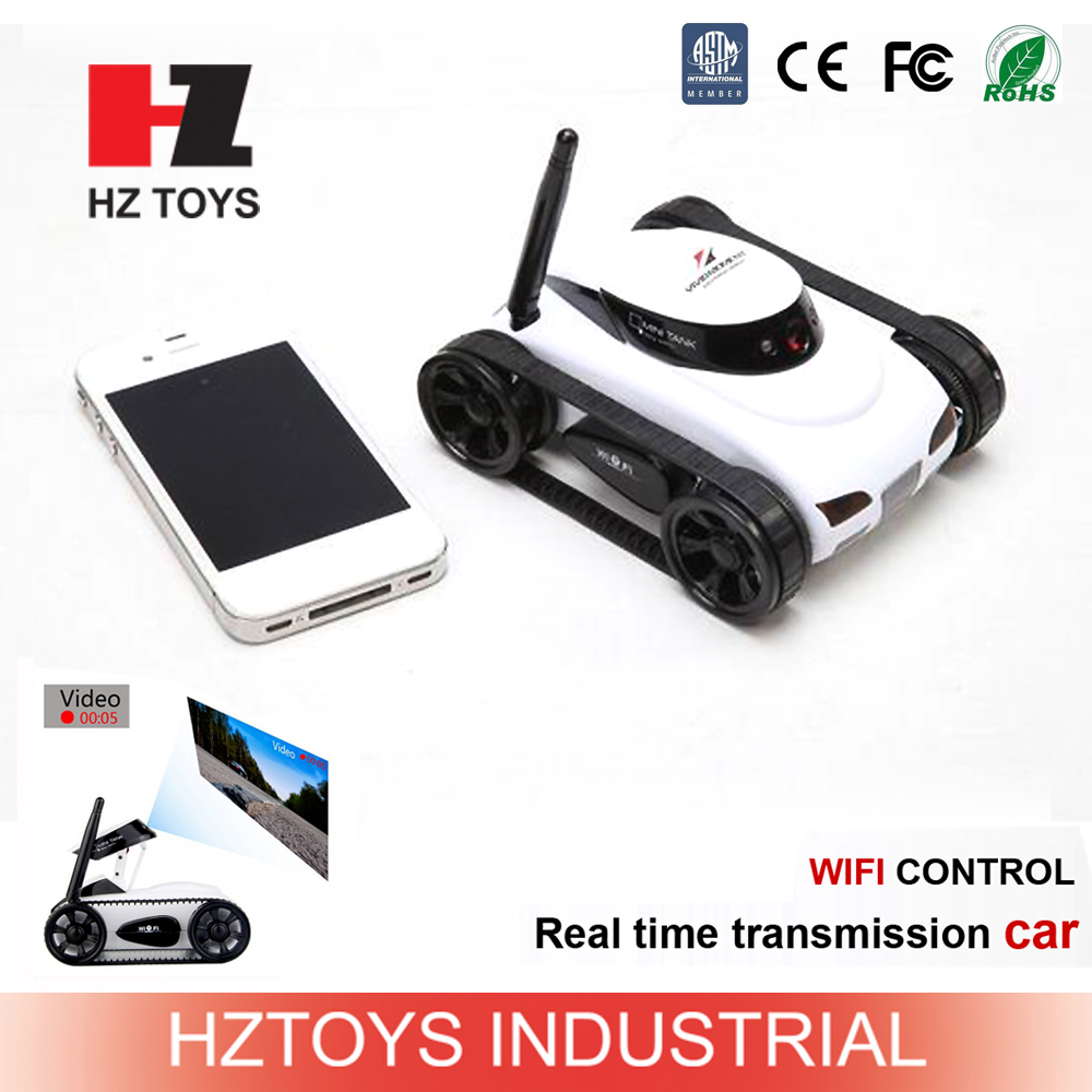 2015 new toys 4ch wifi control rc tank mini rc car drifting with camera.