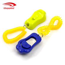 Pet Training products Dog Training Clicker with Colorful Aid Wrist Strap