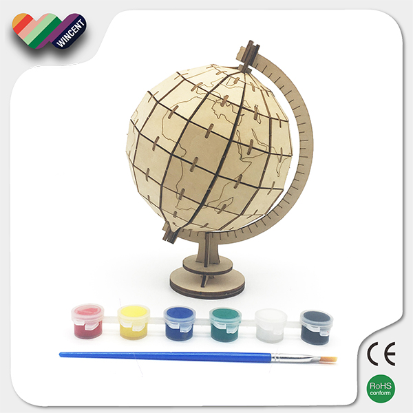 3D Globe Puzzle Kids Wooden Educational Kits
