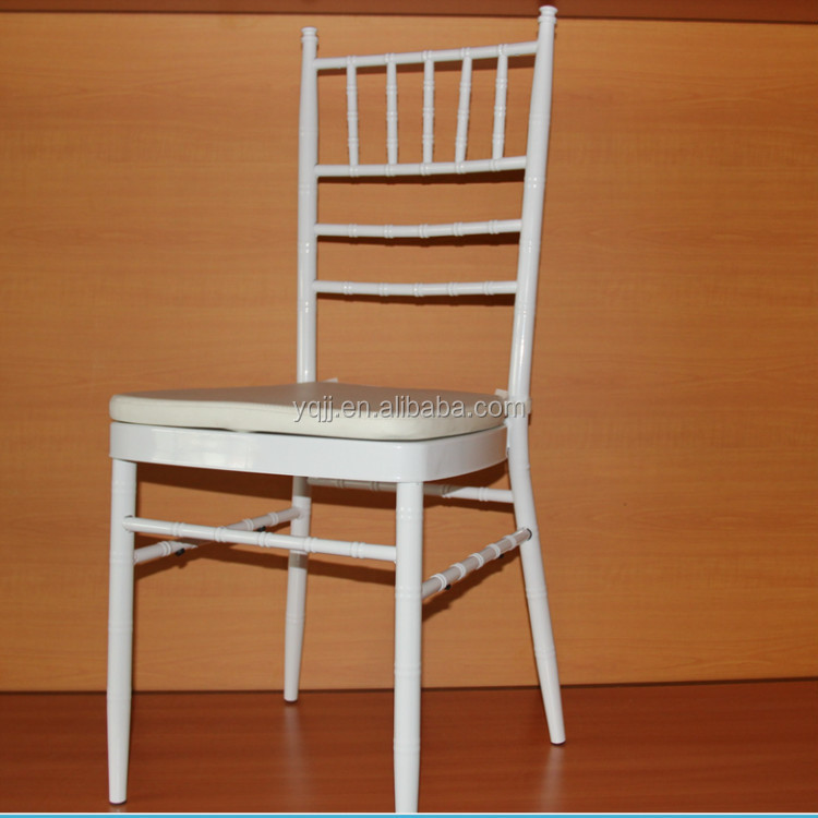 white color outdoor cheap wedding chair rentals for bride and groom