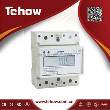 electricity meter select 5+1 digits register notmal or simple connection